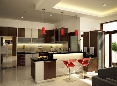 Gambar Desain Dapur Modern on Pencahayaan Dalam Dekorasi Dapur Modern
