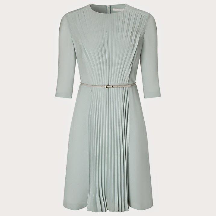 boss mint pleated dress,