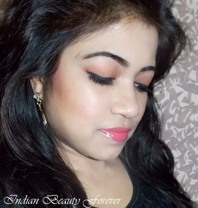 Quick Makeup Look with Peachy Pink Lips
