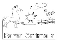 Horse and farm animals coloring book by Robert Aaron Wiley for Microsoft Office Online