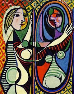 """""""Mujer   ante el espejo""""    Pablo  Picasso, 1931."""