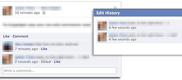 """Istoria editarilor unui comentariu este vizibila la accesarea link-ului """"Edited"""""""