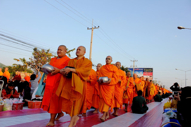 Monks alms-giving in Chiang Mai, monks