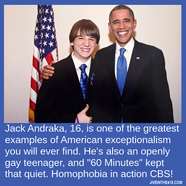 Gay boy genius Jack Andraka, 16, poses for a photo with President Barack Obama.