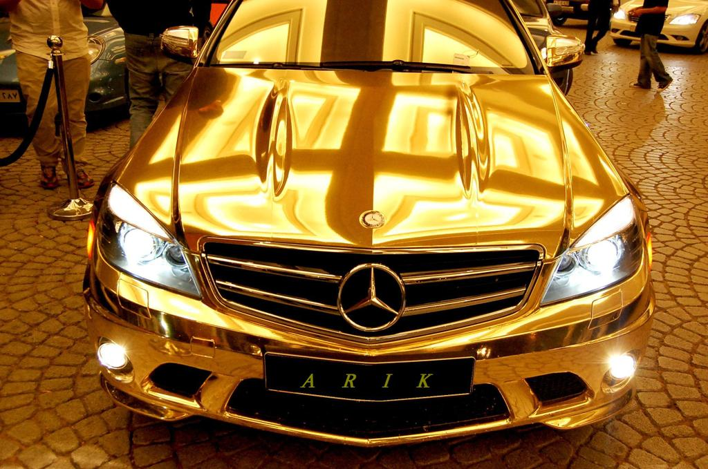 Gold car