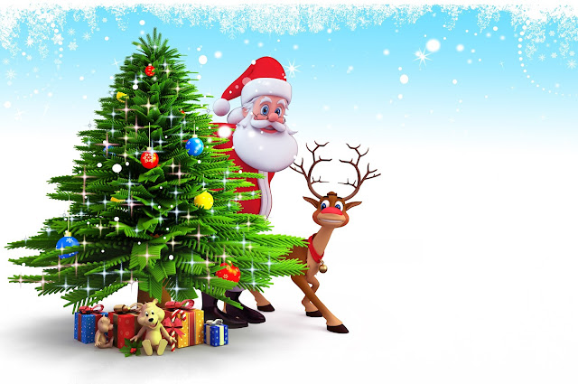 Christmas Santa outfit awesome wallpaper