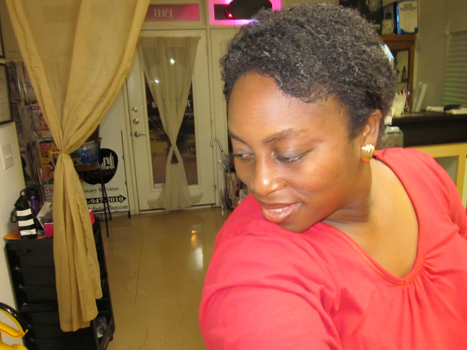 4c hair shrinkage before and after