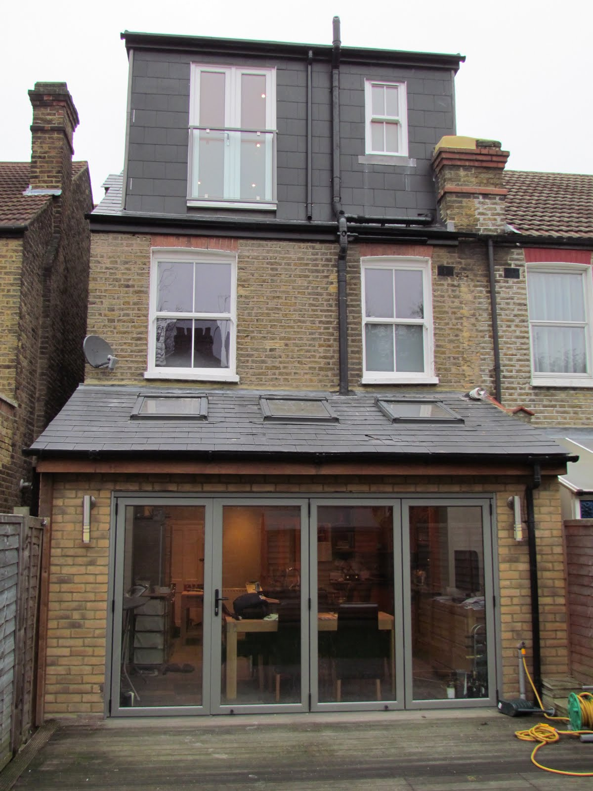 Rear Extension Pitch Roof Extened Kitchen Extension