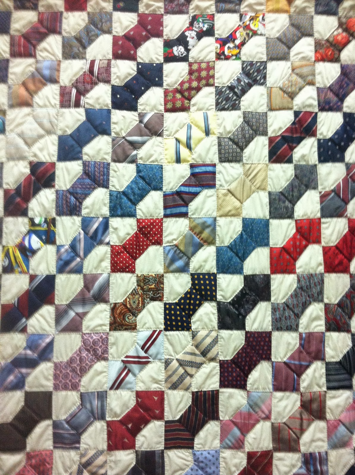 Bow tie Quilt made from neckties Quilts Pinterest
