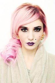 Audrey Kitching Marshmallow pink hair dye Crazy Colour