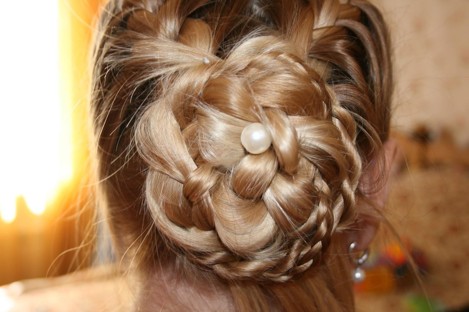 Прически цветы из косы фото