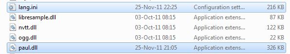 Binaries win32 folder
