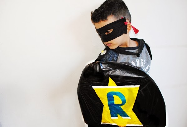 Homemade superhero costume