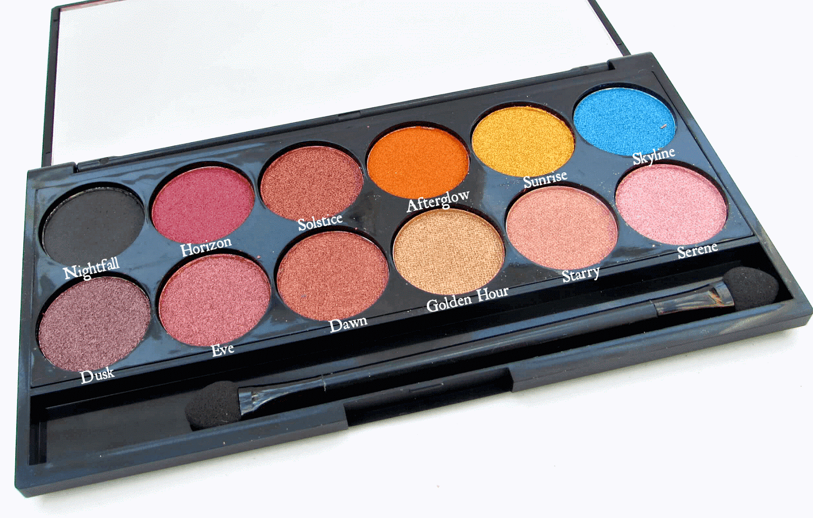 Sleek Sunset Eyeshadow Palette and Matte Me Lips in Birthday Suit