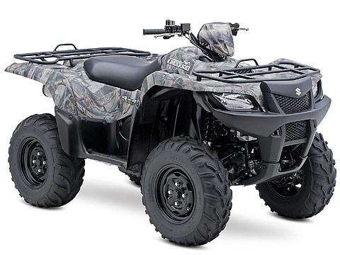 2013 Suzuki KingQuad 500AXi Camo ATV pictures. 480x360 pixels