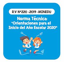 ORIENTACIONES INICIO AÑO ESCOLAR 2020 - R.V N°1055 -2019 -MINEDU