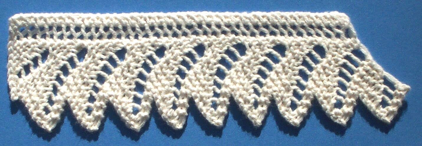 Easy Lace Edging Knitting Pattern : 1884 Knitted Lace Sample Book: 2.2 Lace for Either Thread or Yarn