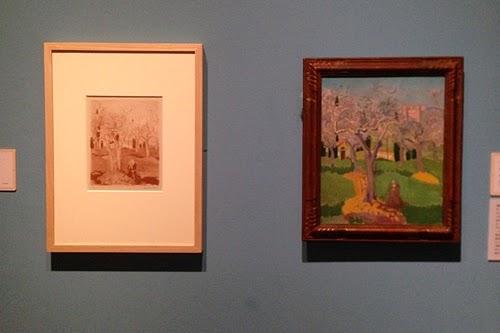 [左]モーリス・ドニ 「アッシジの聖フランチェスコ」 1926年 [右... 世紀末の幻想