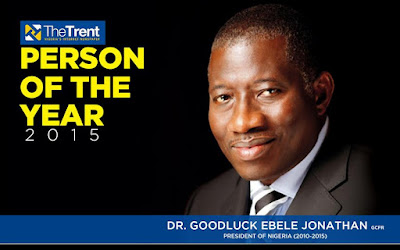The trent online names Goodluck Jonathan man of the year one