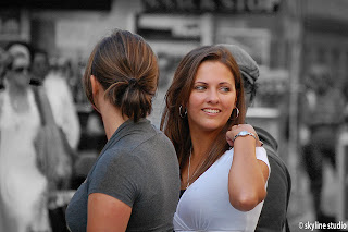2 beautiful girls in market