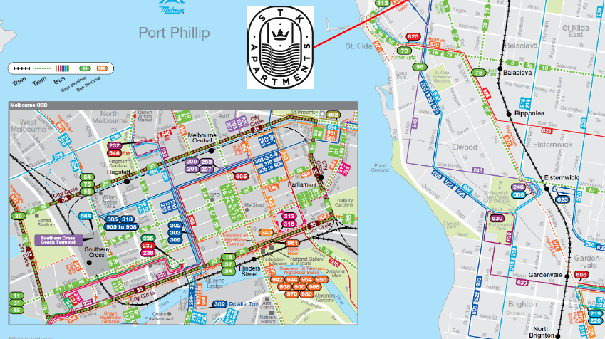 St kilda Map with S.T.K Melbourne