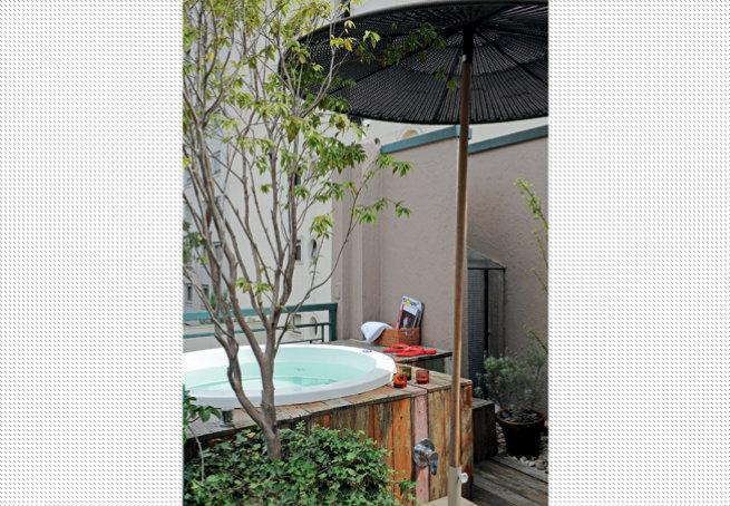 projeto de ofuro no jardim:essence – Arquitetura,Decoração e Obras – Arq. Eloisa Mondi: Spa