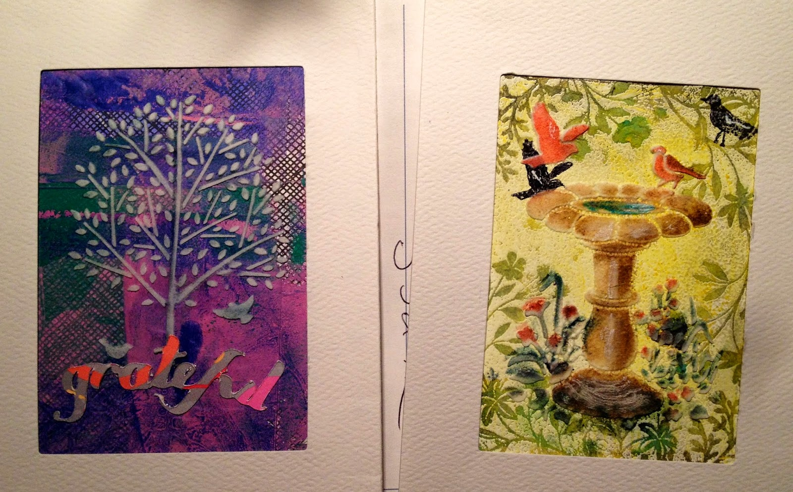 ATC cards by Candice Schwark, Studio-Mosaic