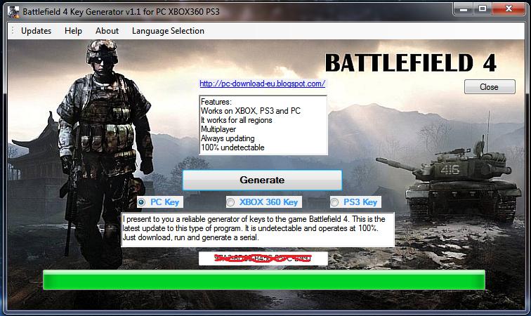 Скачать генератор ключей для battlefield 3