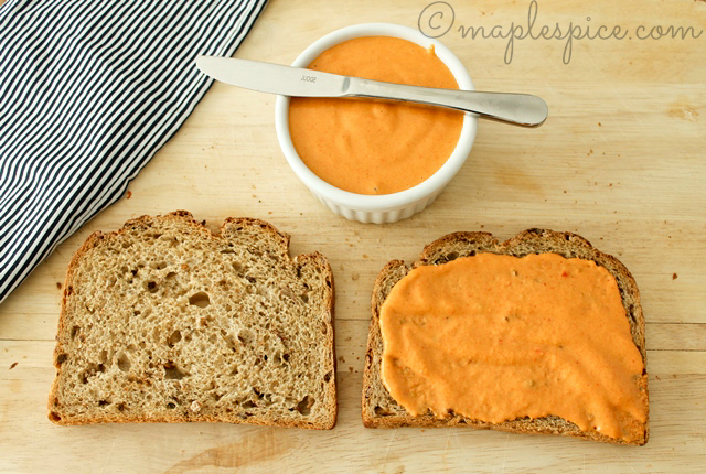 Isa's Roasted Red Pepper Almond Mayo