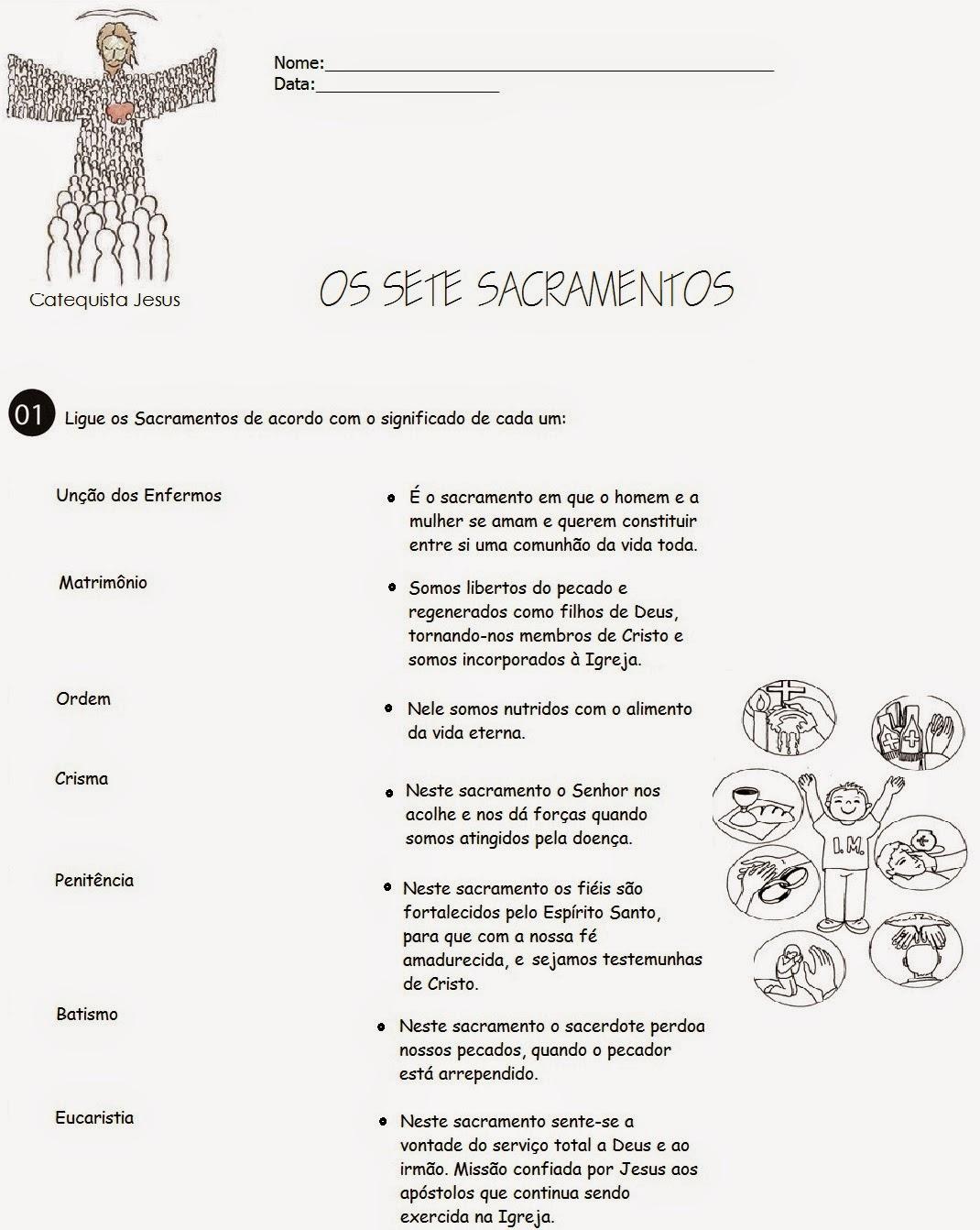 Sacramento Do Matrimonio Na Bíblia : Sacramentos atividades catequista jesus