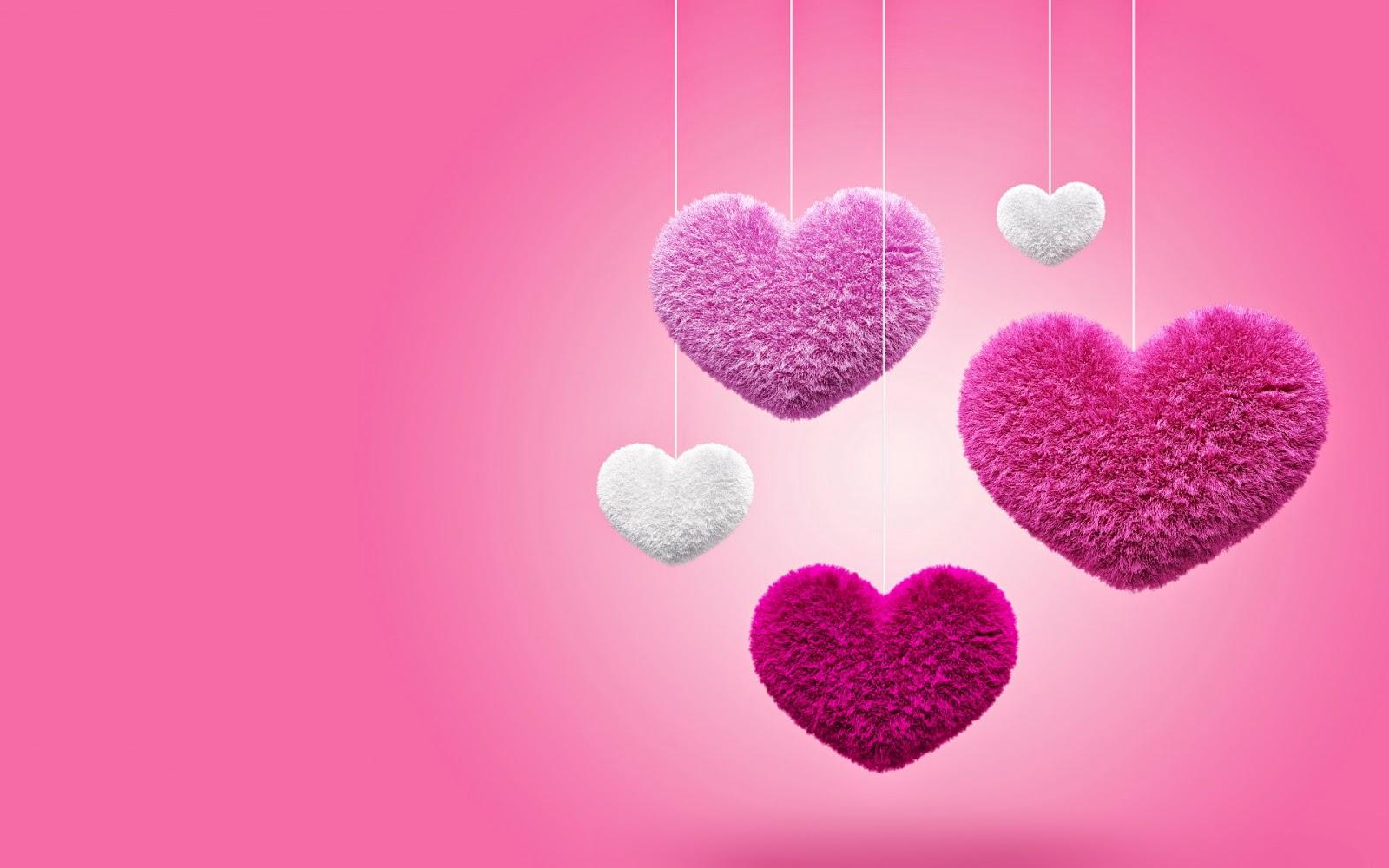 Roze achtergrond met liefdes hartjes van stof