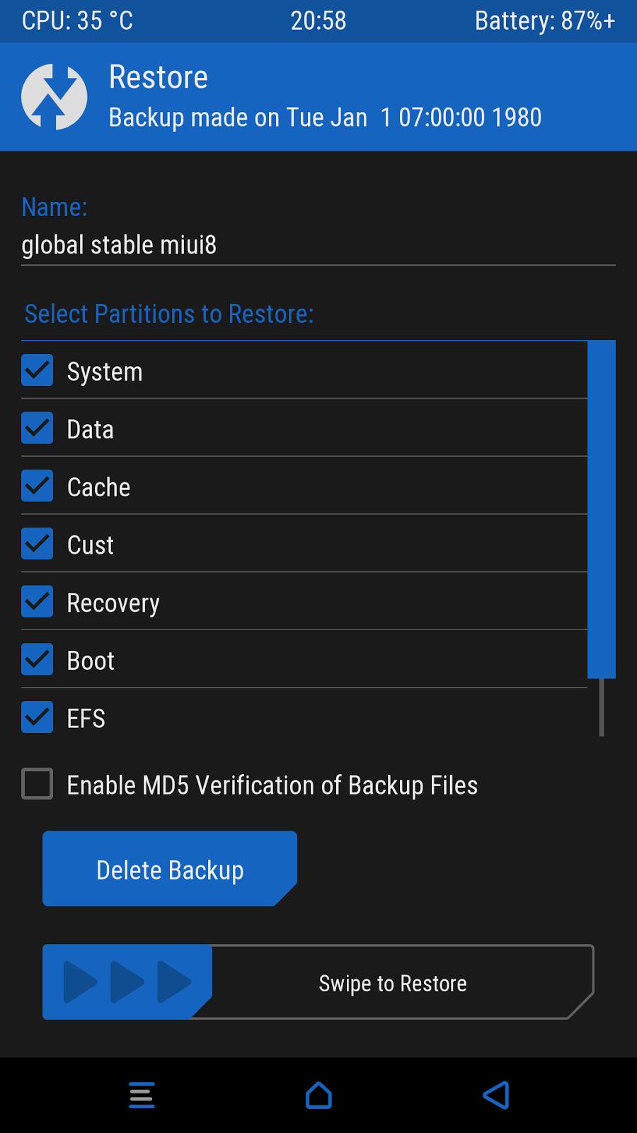 Как сделать резервную копию (бэкап) на Андроид 32