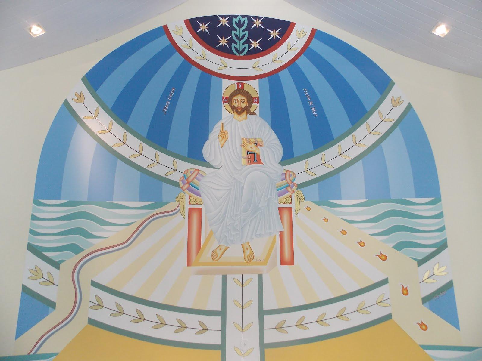Detalhes do painel Cristo a paz Eu vos dou