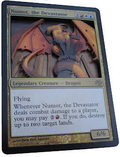 Numot the Devastator Altered art Magic the gathering 3D Magic cards mtg altered art mtg artwork Numot EDH Numot Commander Numot MTG