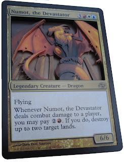 Numot the Devastator Altered art Magic the gathering 3D Magic cards mtg altered art mtg artwork Numot EDH Numot Commander Numot MTG