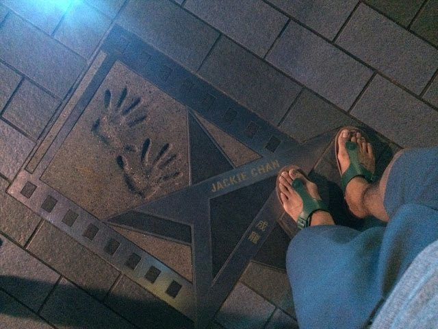 wisata, avenue of the star hongkong,jackie chan
