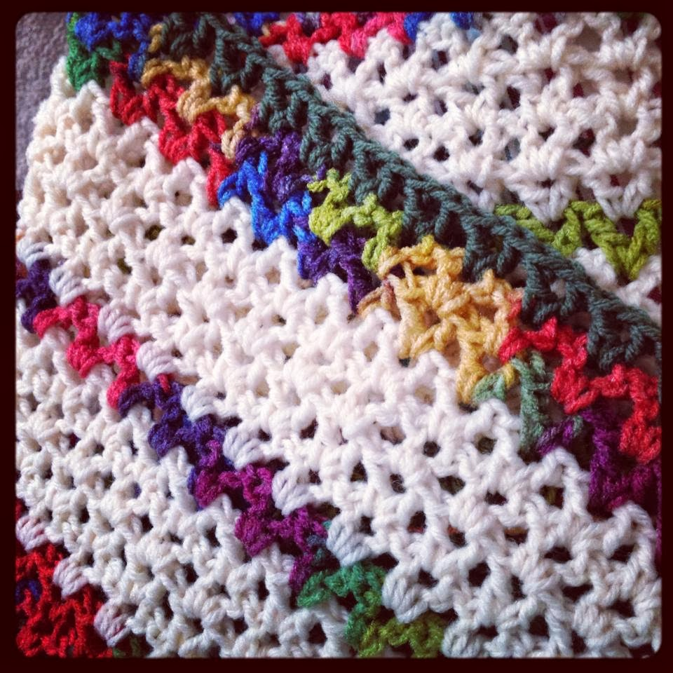 Free Afghan Patterns Crochet Quick Easy : Free Crochet Baby Blanket Pattern How To Easy Crochet V ...