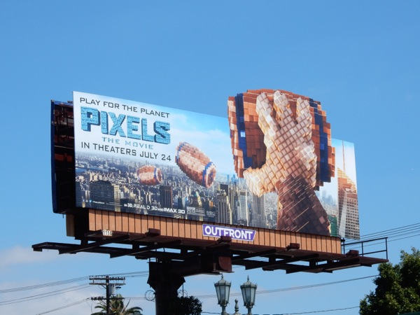 Donkey Kong Pixels extension billboard