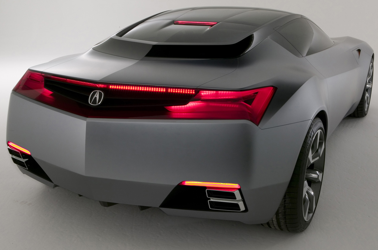 acura nsx rear view sport car modification cars online modifications