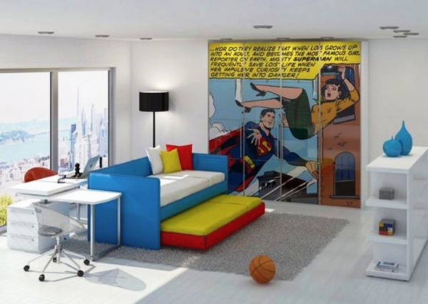 Kamar Anak dengan Tema Cartoon