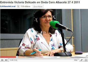 VIDEO DE LA ENTREVISTA DE VICTORIA DELICADO EN ONDA CERO ALBACETE