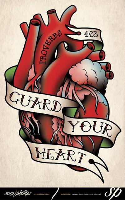 Traditional Human Heart Tattoo