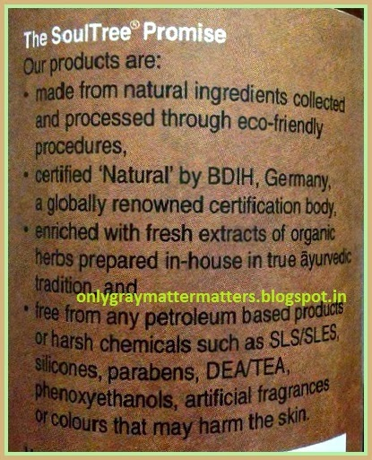 Soultree sulphates free organic shampoo india