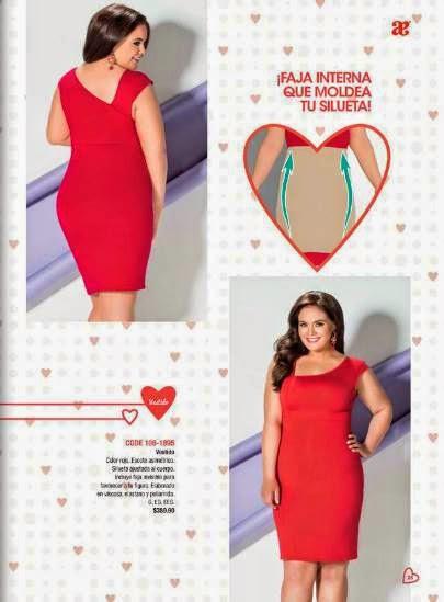 Vestido rojo asimetrico Andrea 2015 Amor