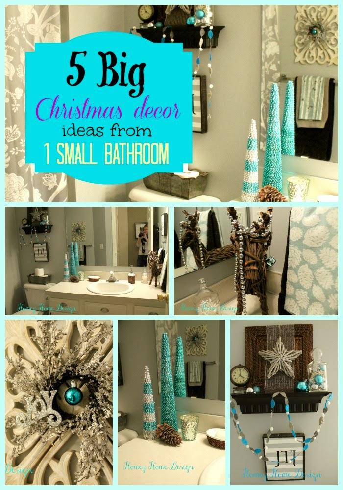 homey home design: Bathroom Christmas Ideas