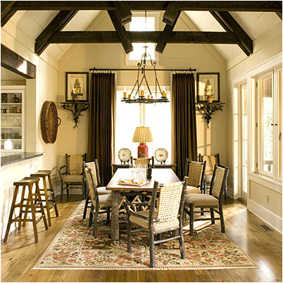 Cottage dining room design ideas room design inspirations for Rustic dining room decorating ideas