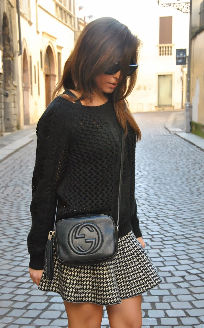 STYLE SHOUTS Gucci Disco Soho bag and skirt