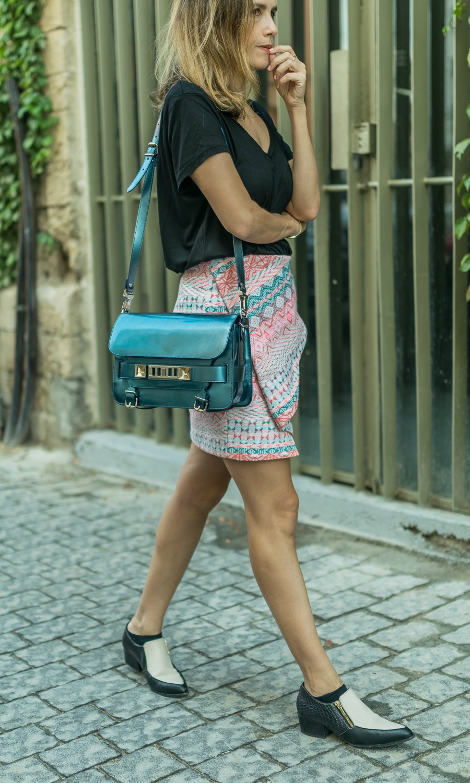 Proenza Schouler.origami, skirt, ootd, lookoftheday, streetstyle, fashionblog, wear, telavivfashion.israelfashion
