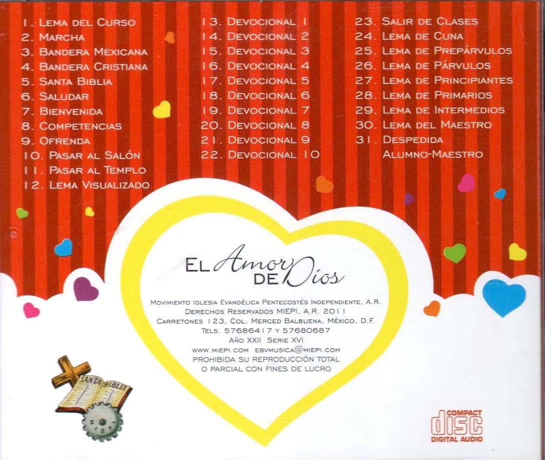 EBV MIEPI-El Amor De Dios-Niños Coros-Serie XVI-