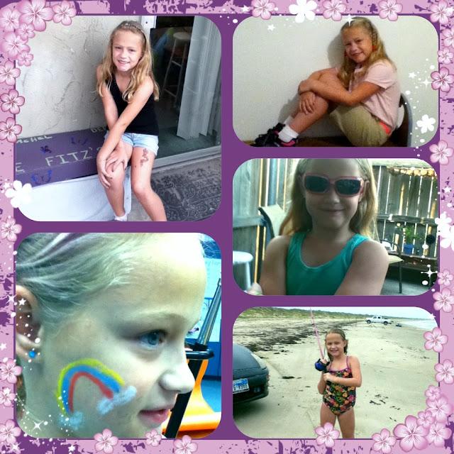 Rachel purple collage